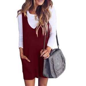 Red Jumper Sweater Dress- Size Small- Worn Once